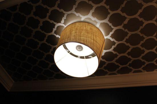 HOUSEography: Powder Room Bling: Part 4 - Bye Bye Boob Fan Light