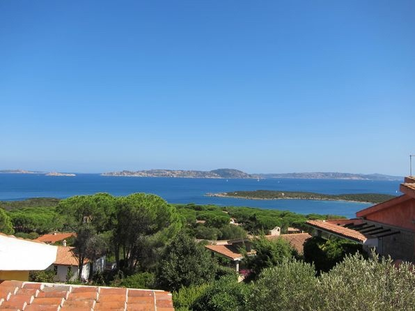 View from the hill: to the right La Coluccia, in the center the Spargi island, to the left Spargiotto