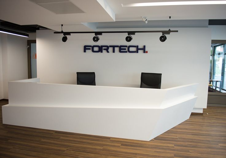 Office reception, designed by Morphoza, for Fortech, Cluj-Napoca.