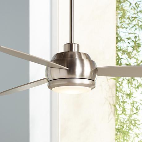 """52"""" Casa Vieja Veridian Brushed Nickel Ceiling Fan - #Y2176   LampsPlus.com"""