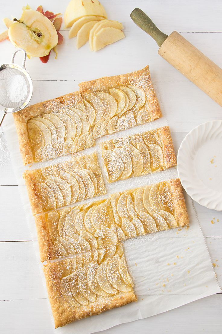 Easy Puff Pastry Honey Apple Tart | Sift and Whisk