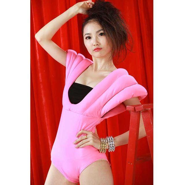 Wholesale Sexy New Nightclub Black Pink Leotard Female Singer Jazz Dance Clothes…