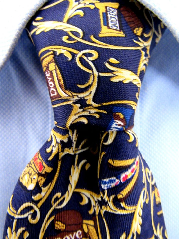 Men's Marie Alice Sybord Blue Silk Tie Made in France 20247