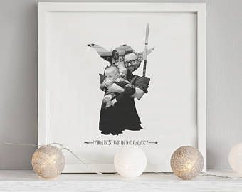 Printable Fathers Day Art Star Wars Print Printable Gift for