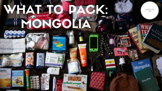 My (light) packing list for two weeks in Mongolia during the summer, including camping gear and supplies for a Gobi desert tour.