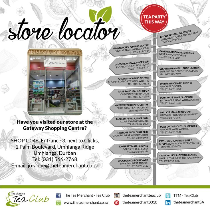 Did you know we have stores country wide? Please see which store is nearest to you for the ultimate tea experience #storelocator #theteamerchant #gateway