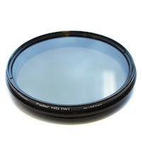 Traploos verstelbaar ND-filter, van 1 tot 8. Om geringe dieptescherpte te maken bij vol licht op mijn videocamera