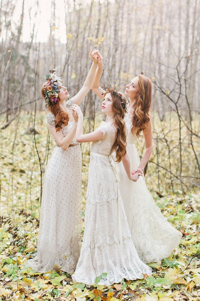 Fairytale wedding dress ,Enchanted Forest Fairytale Wedding in Shades of Autumn - fabmood.com #fairytalewedding