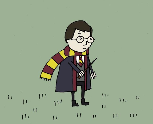 Sad Harry Potter In A Field