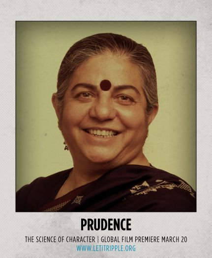 Vandana Shiva is our inspiration for #Prudence #CharacterDay letitripple.org