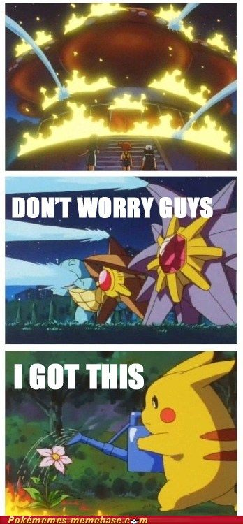 Well geeee...that's so helpful, Pikachu!!  Well...his cuteness kind of makes up for the stupidity.