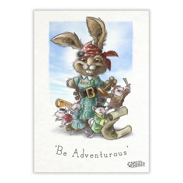 'Be Adventurous' - A4 Print