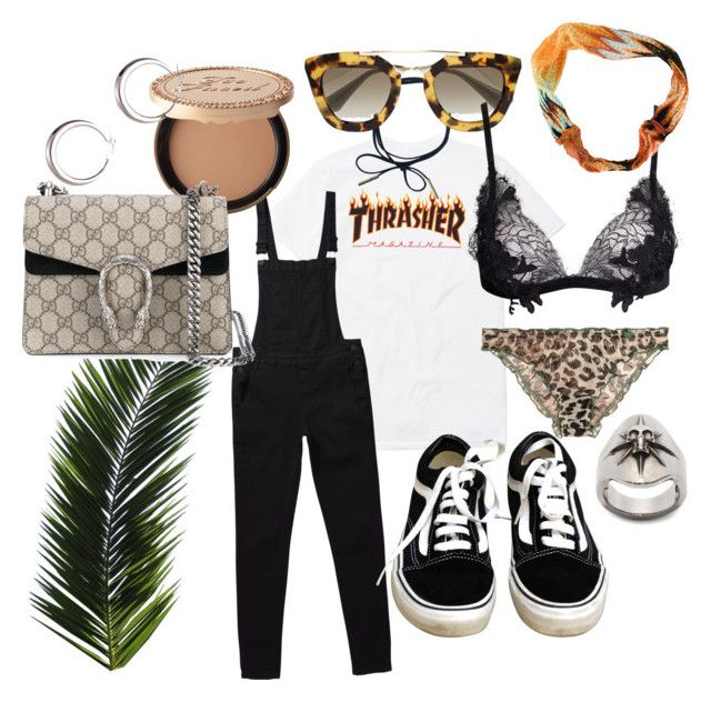 Summer interlude by fashiondisguise on Polyvore featuring For Love & Lemons, LoveStories, Vans, Gucci, Alexander McQueen, Prada, Missoni and Too Faced Cosmetics