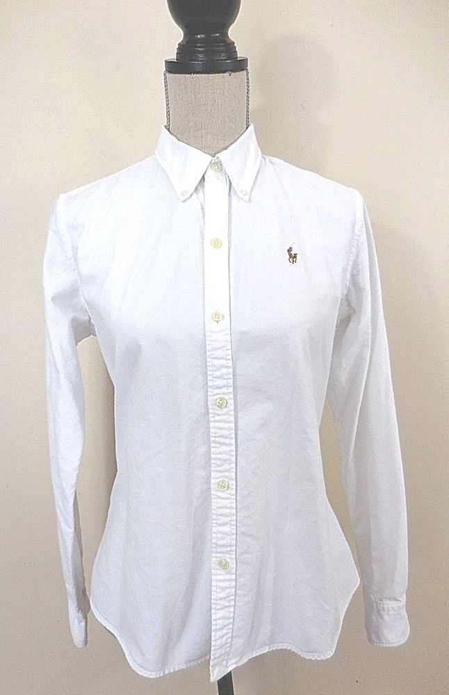 bb3084aa4ec ... discount code for ralph lauren womens slim fit white button down shirt  size 10 ralphlauren buttondownshirt