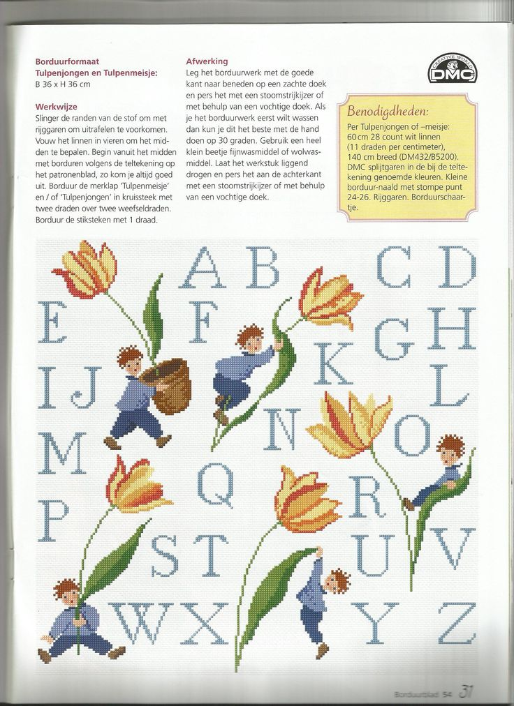 Merklap Tulpenkinderen - DMC