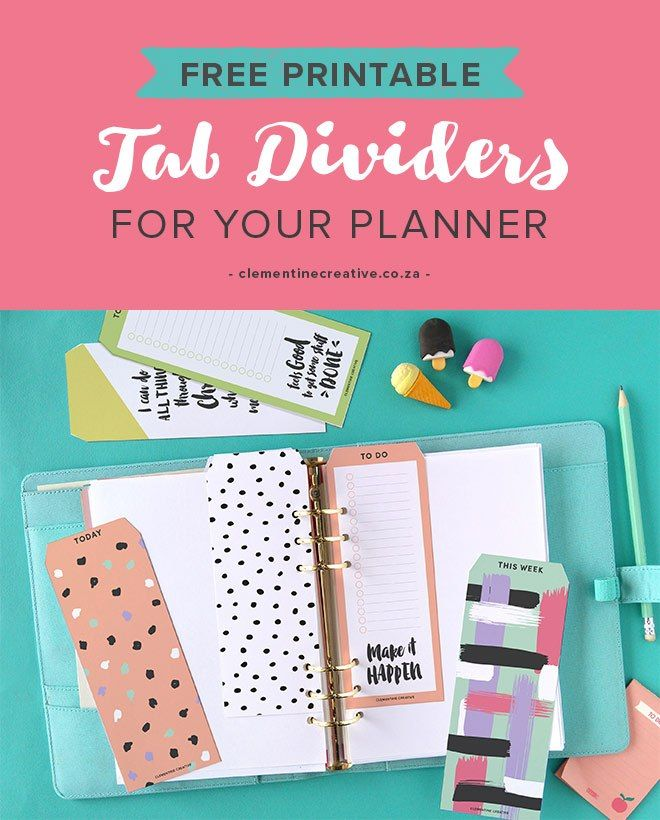 These free printable tab dividers help you keep the most important information right at your fingertips! Use them to organize your planner or binder or even your memory books. You'll get the …