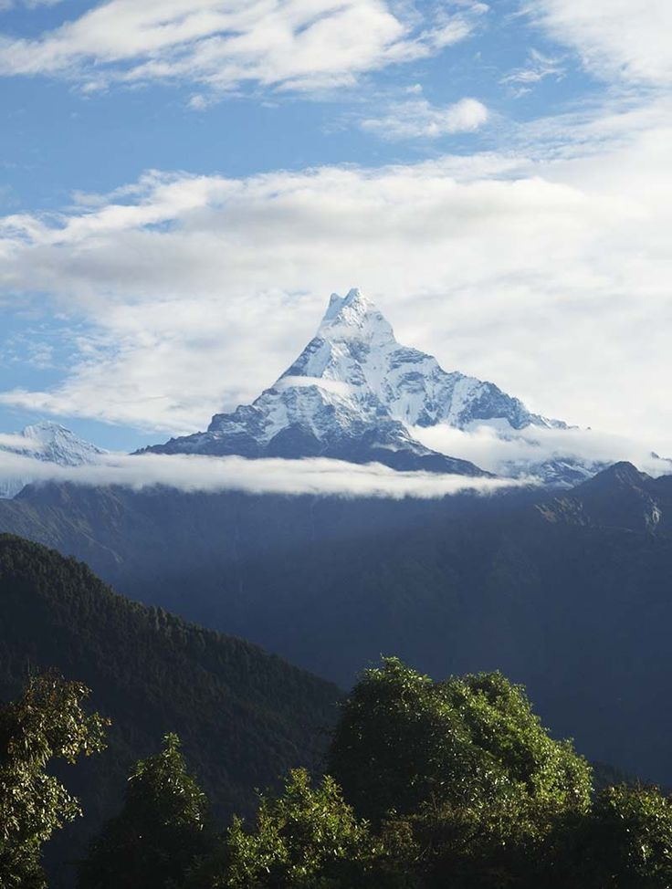 View of Fishtail mountain from Australian Camp, Nepal
