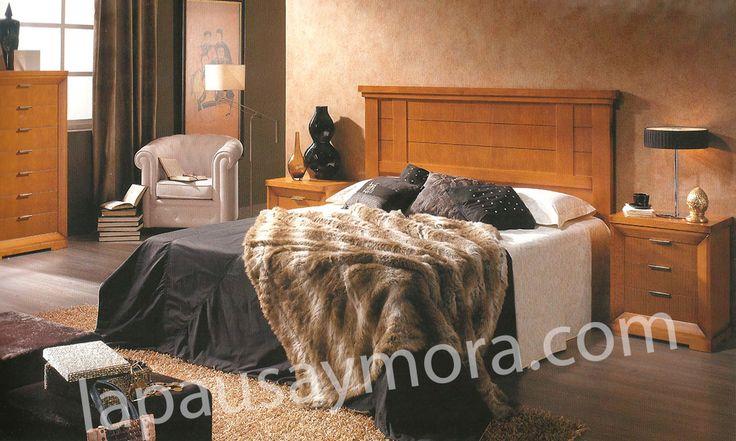 Mueble de dormitorio de Lapausa y Mora, colección Giorno. Composición 03 con acabado en Cerezo envejecido (29).