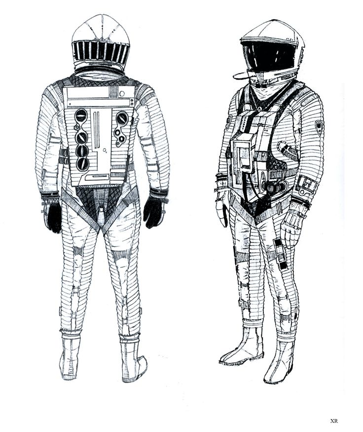 2001: a space odyssey - 1966-68 suit design Anthony Masters. Discovery EVA suit