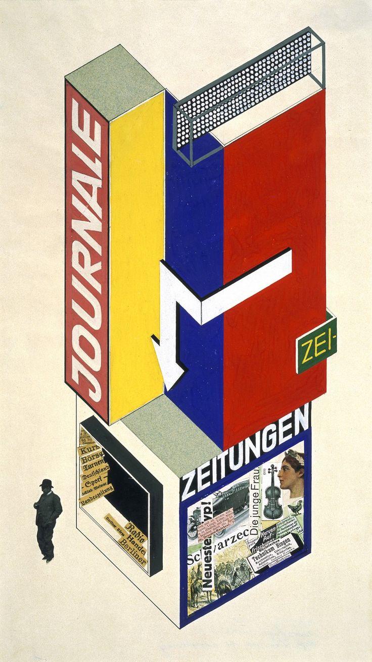 Herbert Bayer, Entwurf für einen Zeitungskiosk, 1924 / Bauhaus-Archiv Berlin, Foto: Hermann Kiessling © 2016 VG Bild-Kunst, Bonn