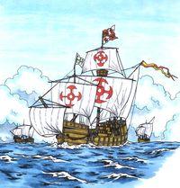 Viaje de Cristóbal Colón en las carabelas