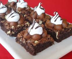mini brownies decorados - Buscar con Google