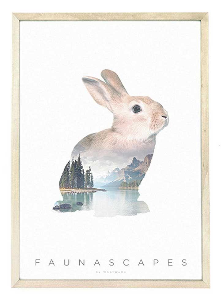 faunascapes-artprint-a3-rabbit