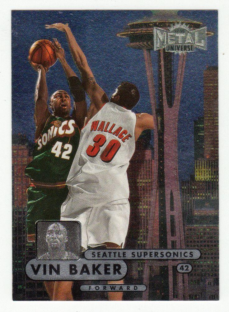 Vin Baker # 6 - 1997-98 Skybox Metal Universe Championship Basketball