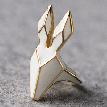 OMG I love #geometric #rabbit #white