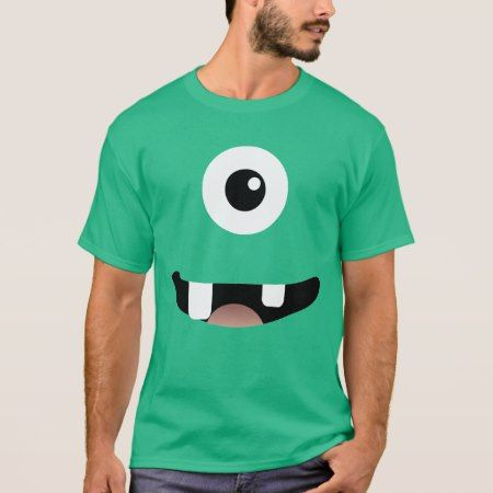 Funny Cyclops One-Eyed Monster Halloween Costume T-Shirt - tap, personalize, buy right now!