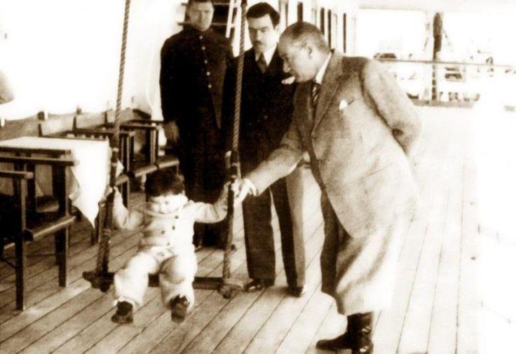 Atatürk ve Çocuk Konulu İç Isıtan Nefis Fotoğraflar