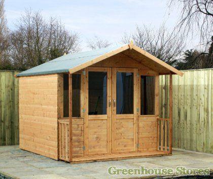 cotswold 8x7 summerhouse with fully glazed doors httpwwwgreenhousestoresco - Garden Sheds 7 X 9