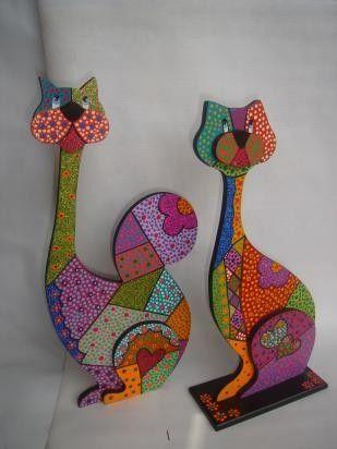 Resultado de imagen para pinterest gatos en madera country
