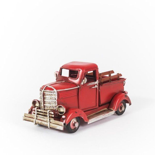 Caminhonete Vermelha - Miniatura - Machine Cult | Loja online especializada em camisetas, miniaturas, quadros, placas e decoração temática de carros, motos e bikes