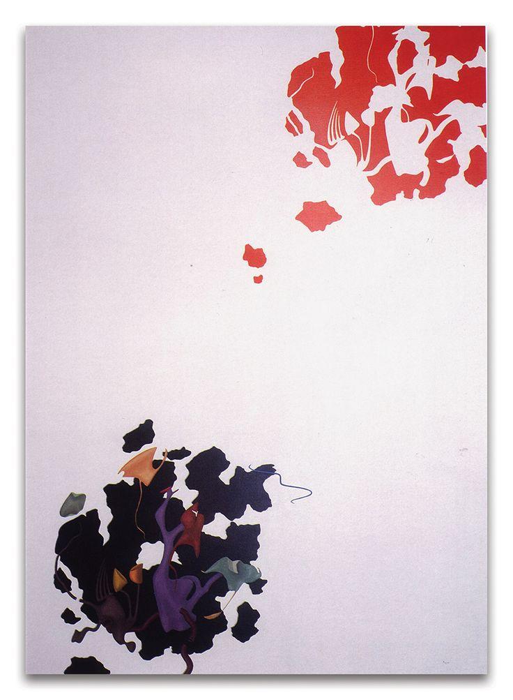 Orizzonte degli eventi, acrilici su tela, cm 180x130, 1989