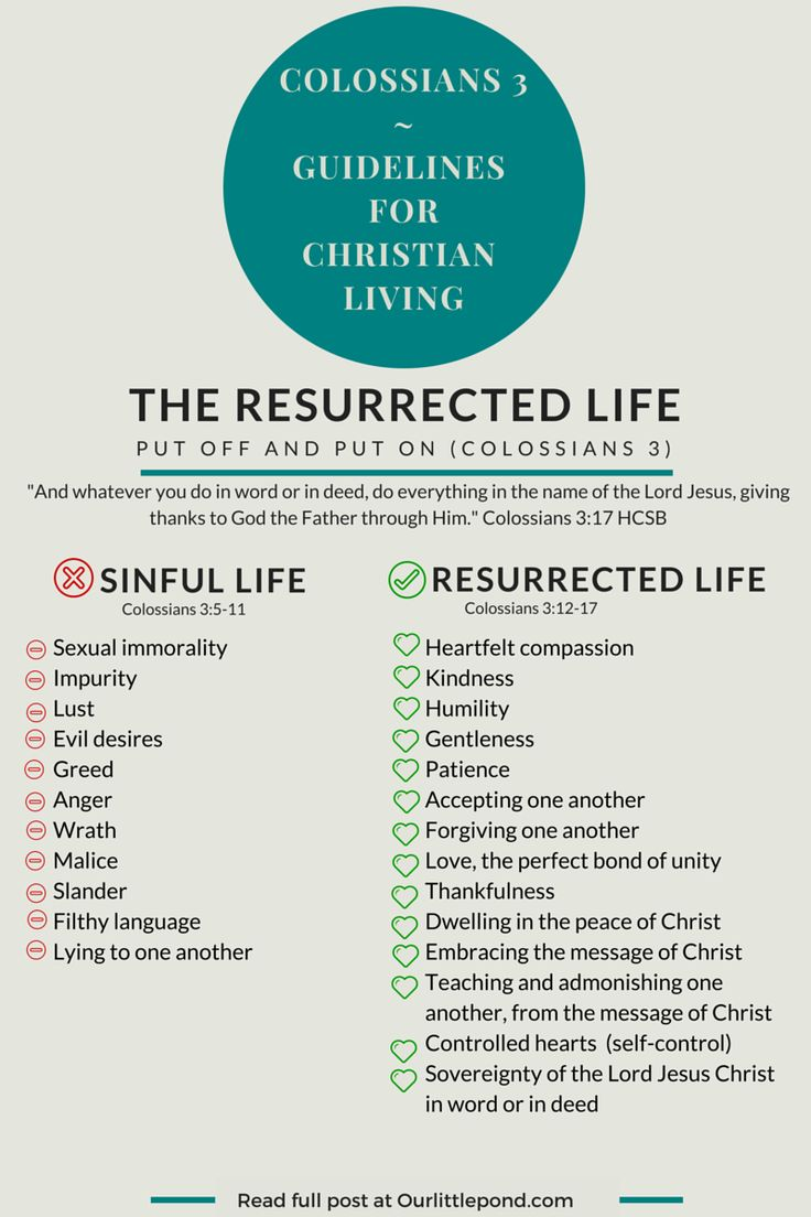 The Resurrected Life, Colossians 3 - Our Little Pond