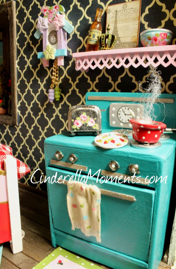 78 best Miniatures-Rooms-Kitchen-Stoves images on Pinterest ...