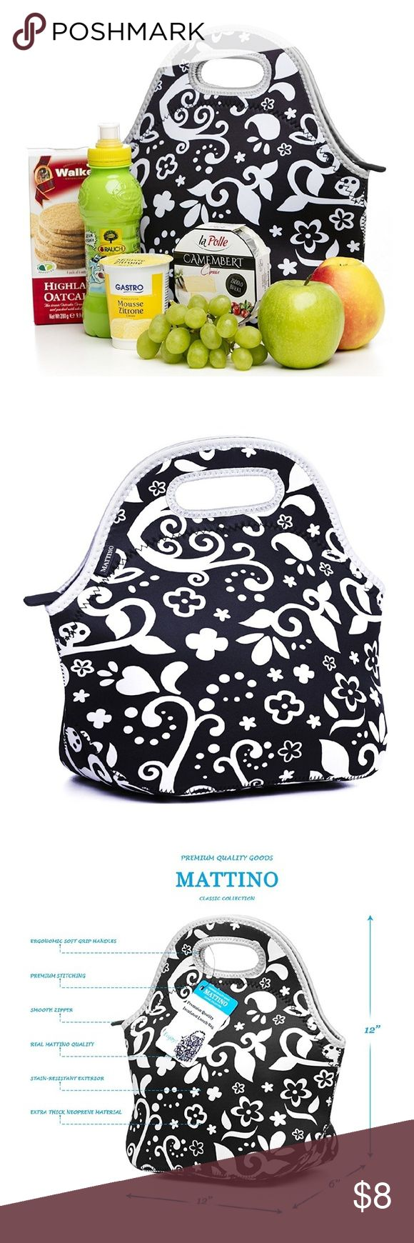Lunch Bag Insulated Lunch Bag - Neoprene Lunch Bag ? Large Reusable Lunch Tote Bags for Women, Teens, Girls, Kids, Baby, Adults ? Cool Fashion Designer Lunch Box for Work, Office, School or GymMATTINO Insulated Lunch Bag - Neoprene Lunch Bag ? Large Reusable Lunch Tote Bags for Women, Teens, Girls, Kids, Baby, Adults ? Cool Fashion Designer Lunch Box for Work, Office, School or Gym Mattino Bags