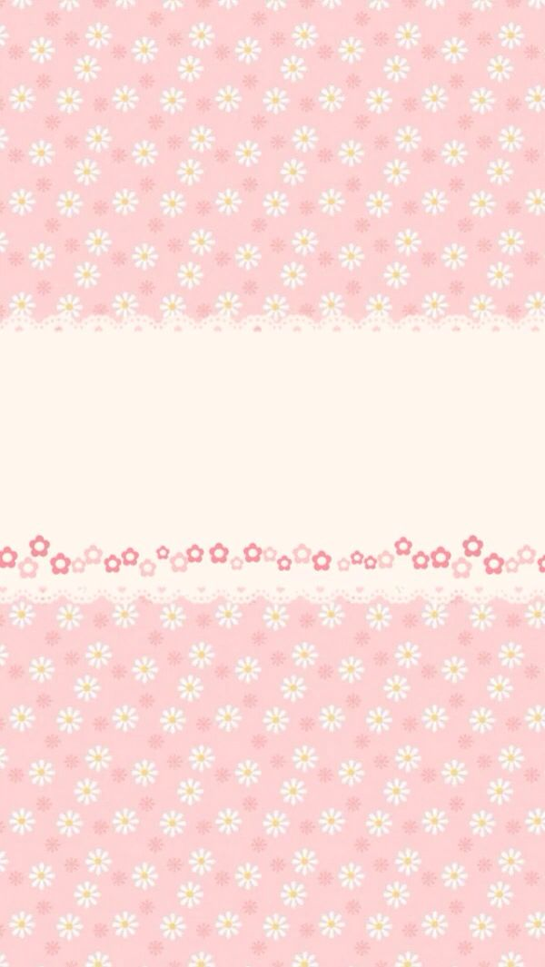 Cute pink floral phone wallpaper