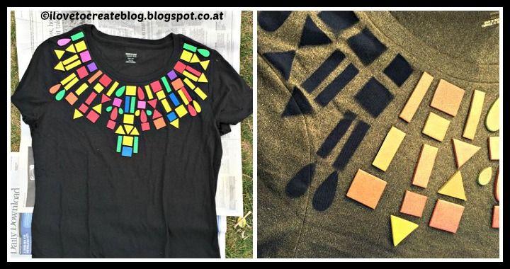 DIY Geometric T-Shirt Tutorial