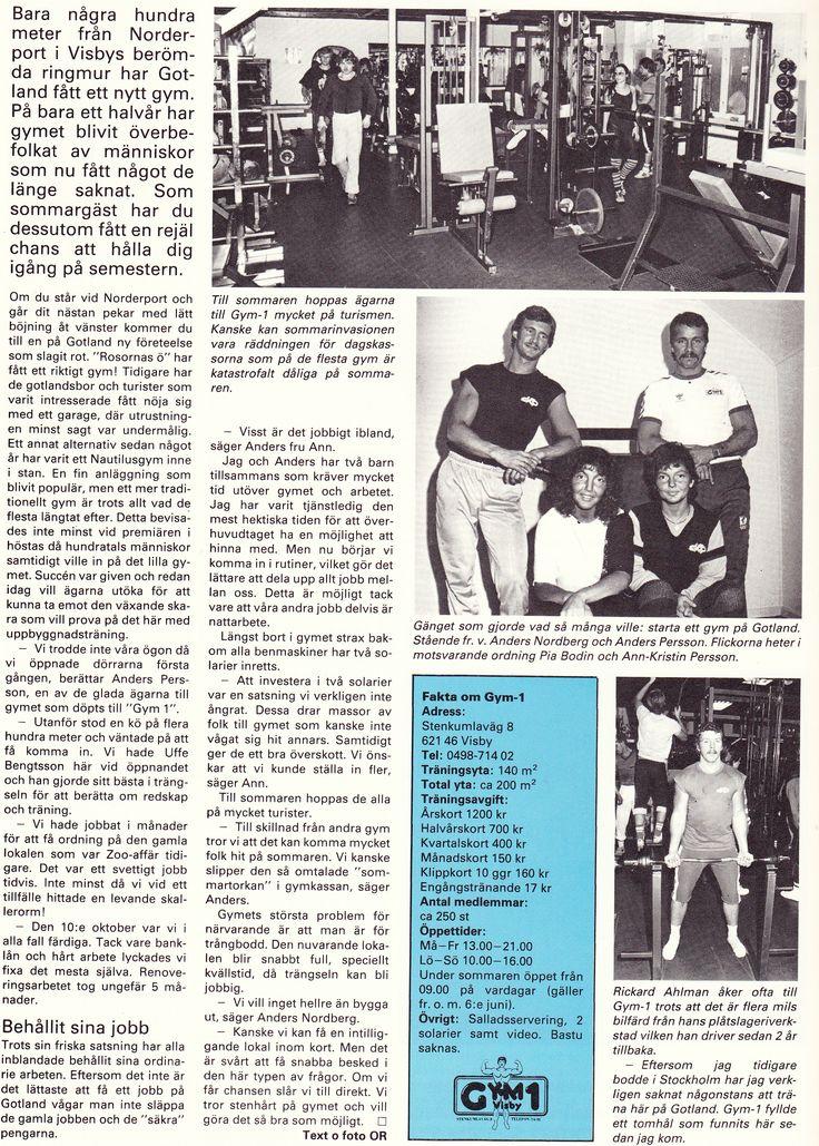 Sweden Visby - Gym 1  1983