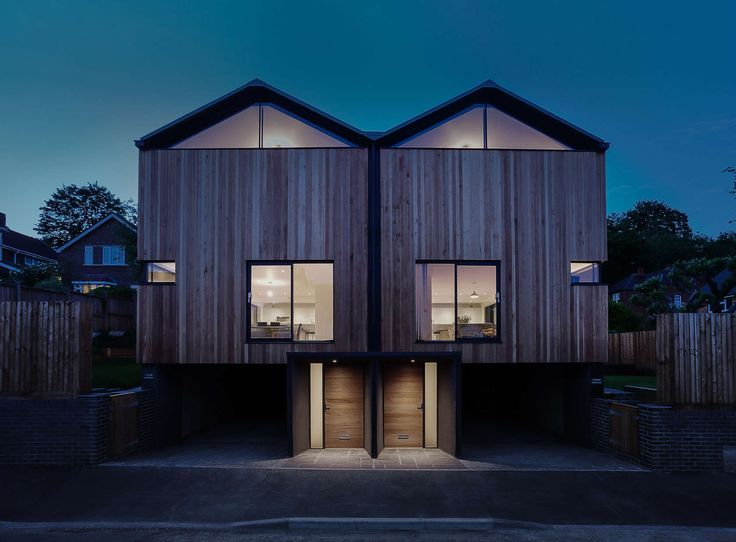 The Brief Was To Replace An Existing Garage With A Pair Of Semi Detached  Contemporary Timber U0026 Zinc Clad Houses In Winchester, Hampshire Which Would  ...