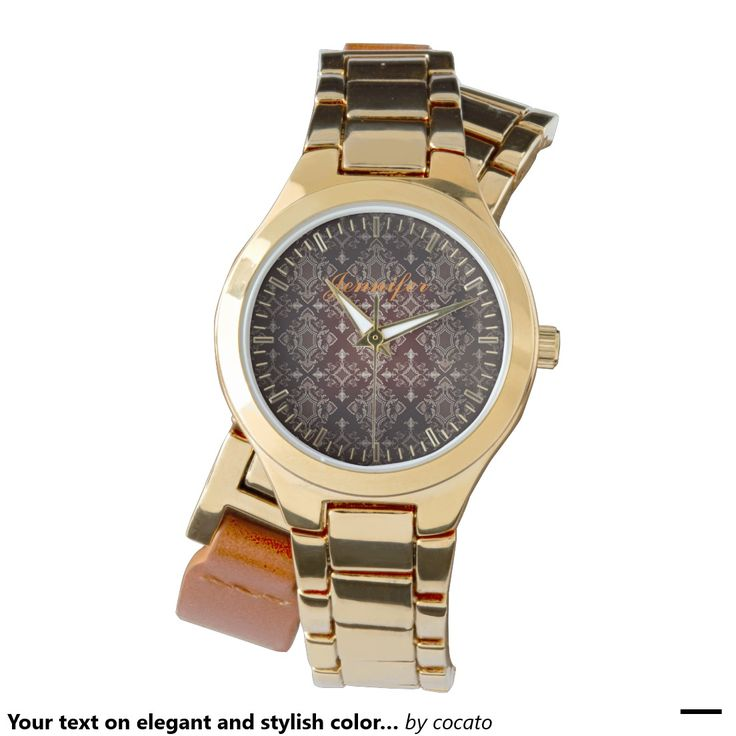 Your text on elegant and stylish color damask. wrist watch,リストウォッチ,腕時計