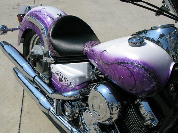 ROAR custom motorcycle, purple
