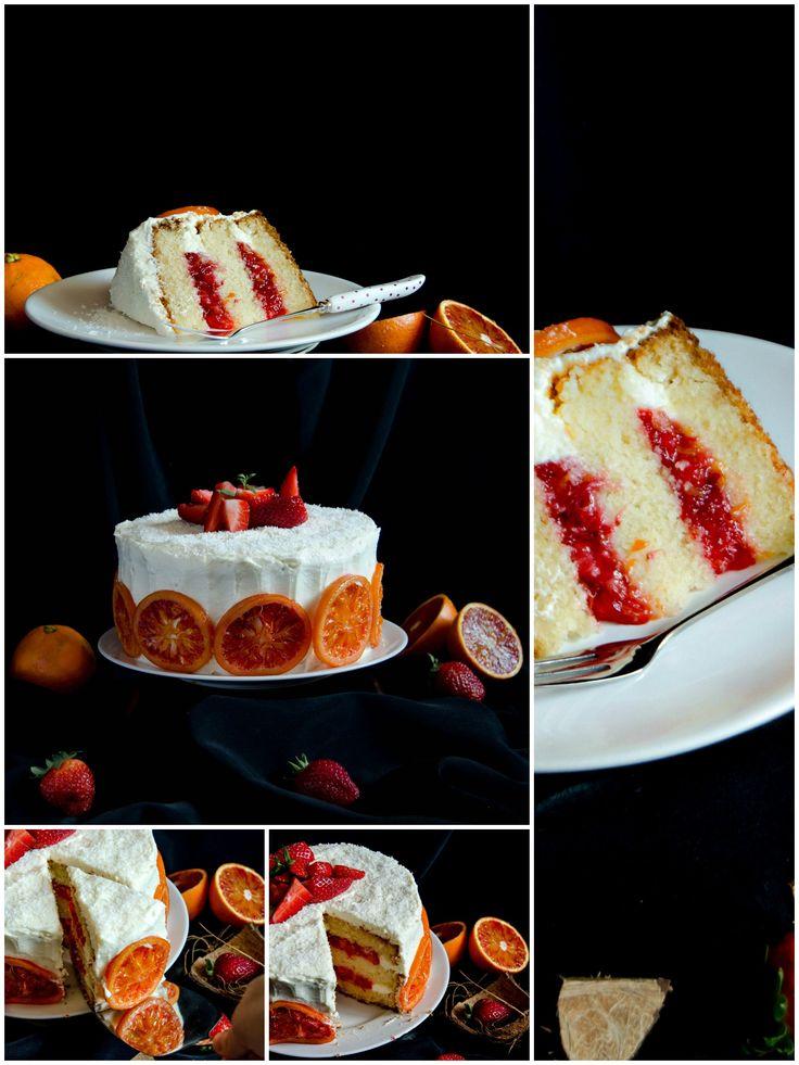 Strawberry Blood Orange Cake