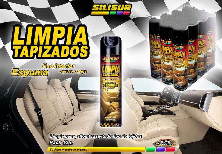 Silisur limpia tapizados automóviles en espuma aerosol 320grs. pack 12u. probusol s.a. - José Clemente Paz