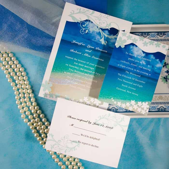 Seal and Send Beach Wedding Invitations to