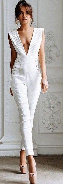 White Jumpsuit                                                                             Source