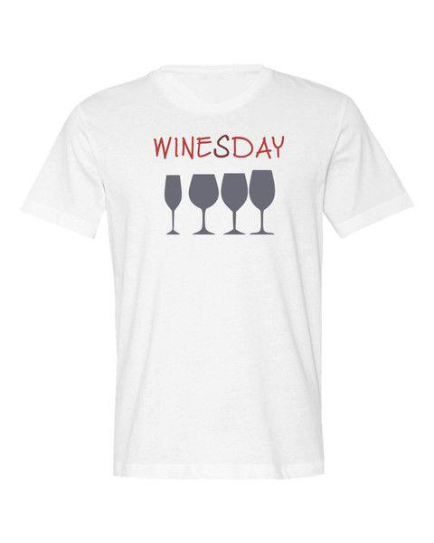 """Koszulka męska bawełniana """"WinesDay"""" - FUNfara - Koszulki z nadrukiem"""