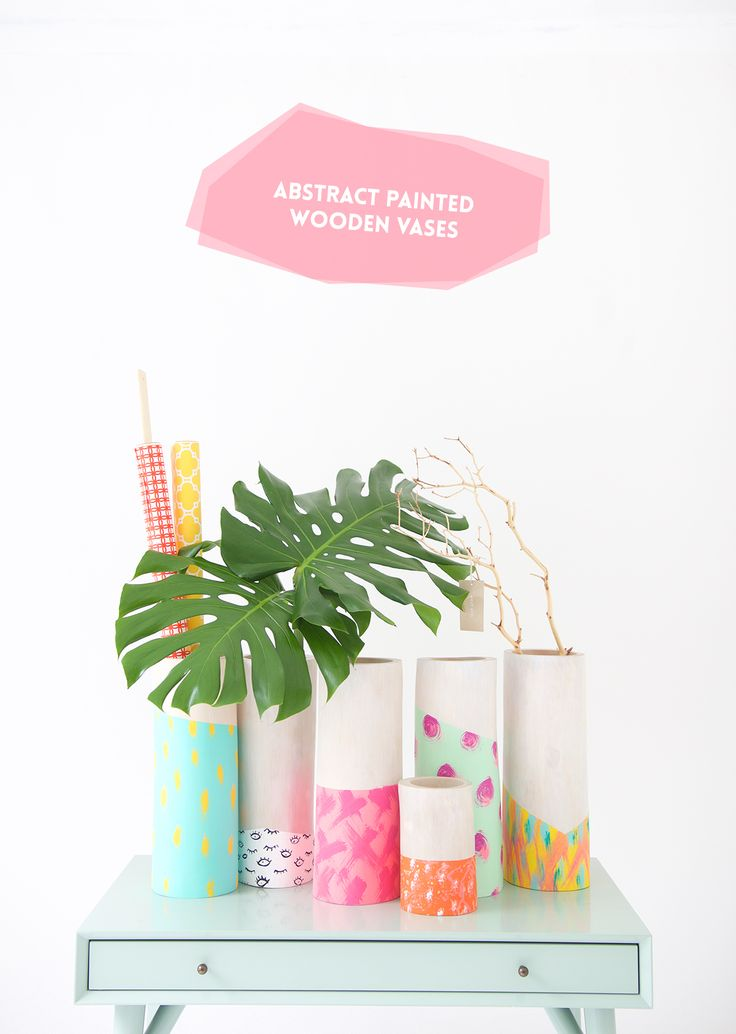 DIY Painted Wooden Vases are super simple to create with just basic supplies and a little imagination. This affordable craft will bring so much creativity into your home decor.